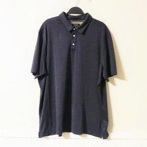 Nordstrom Men's Dark Blue Striped Polo Size XXL
